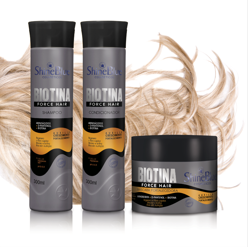 Shine Blue Biotina Force Hair
